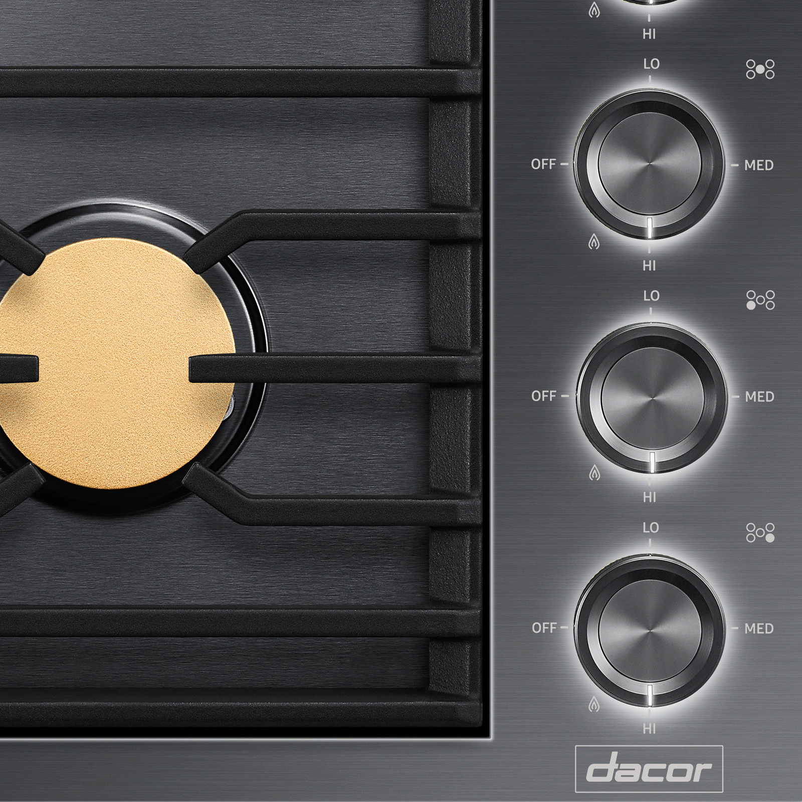 "Model: DTG36M955FS | Dacor Modernist 36"" Drop-In Gas Cooktop, Stainless Steel, Natural Gas"