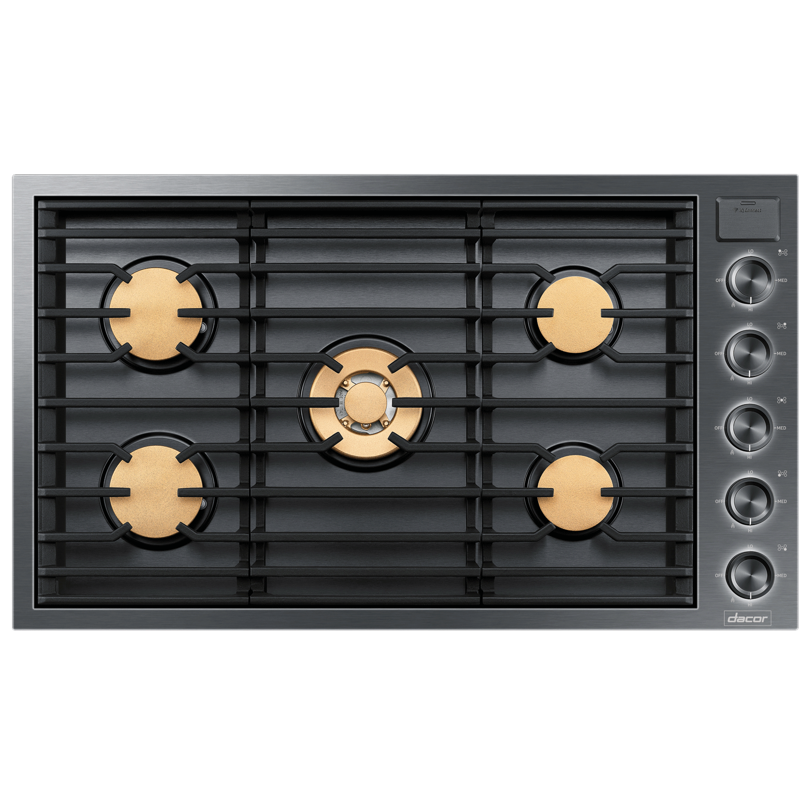 "Dacor Modernist 36"" Drop-In Gas Cooktop, Graphite Stainless Steel, Natural Gas"