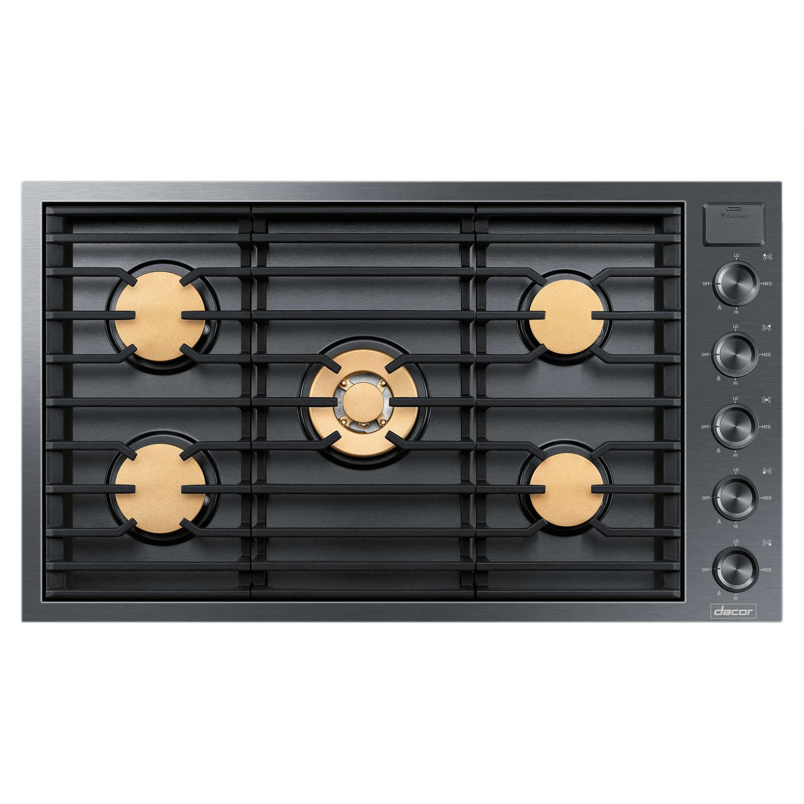 "Model: DTG36M955FM | Dacor Modernist 36"" Drop-In Gas Cooktop, Graphite Stainless Steel, Natural Gas"
