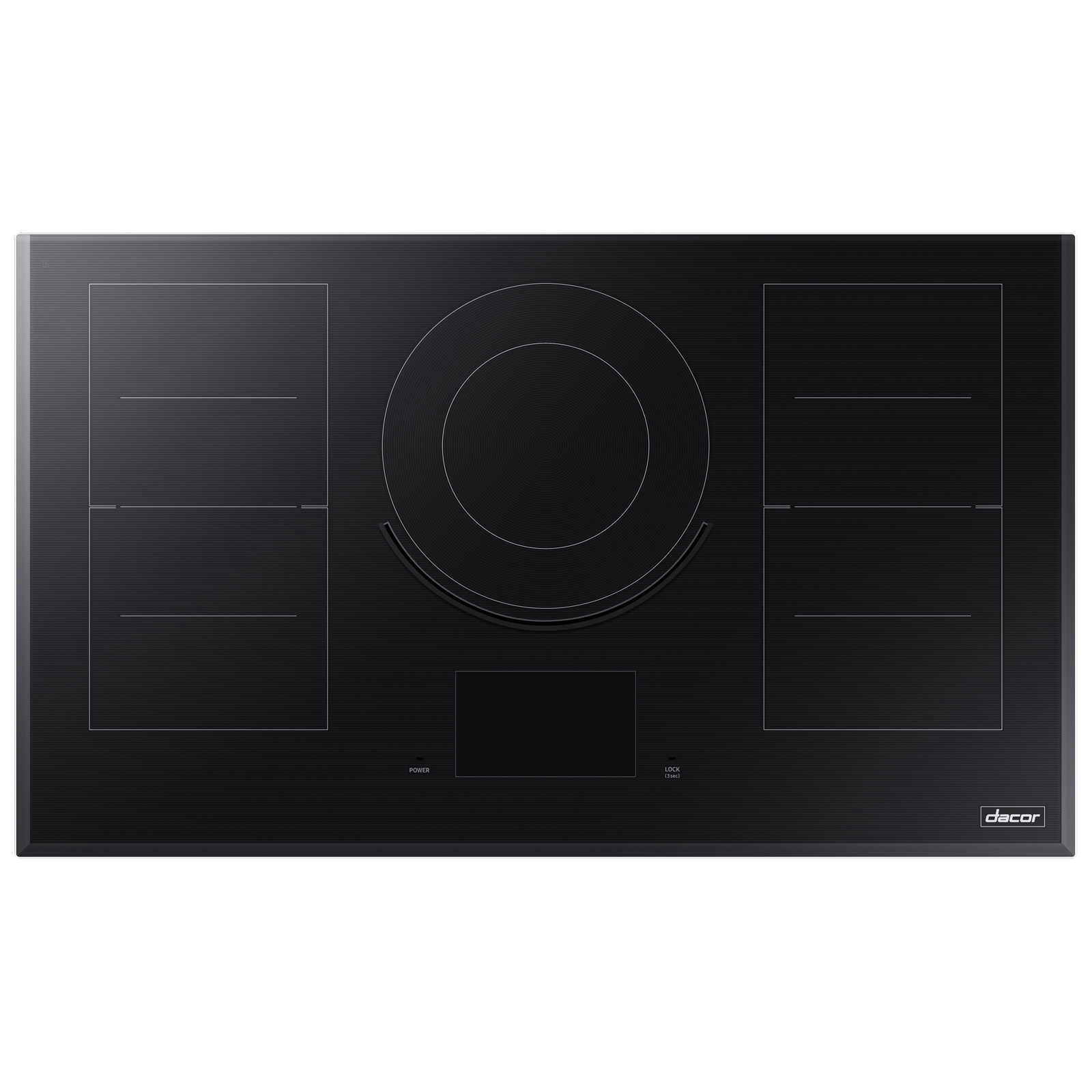 "Dacor Modernist 36"" Induction Cooktop, Black Glass"