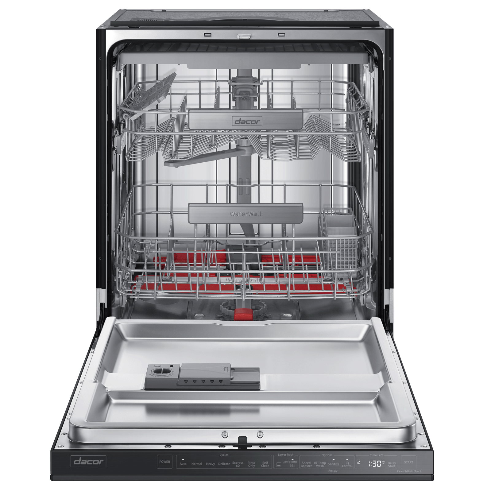"Model: DDW24M999UM-FM | Dacor 24"" Dishwasher, Graphite Stainless Steel"