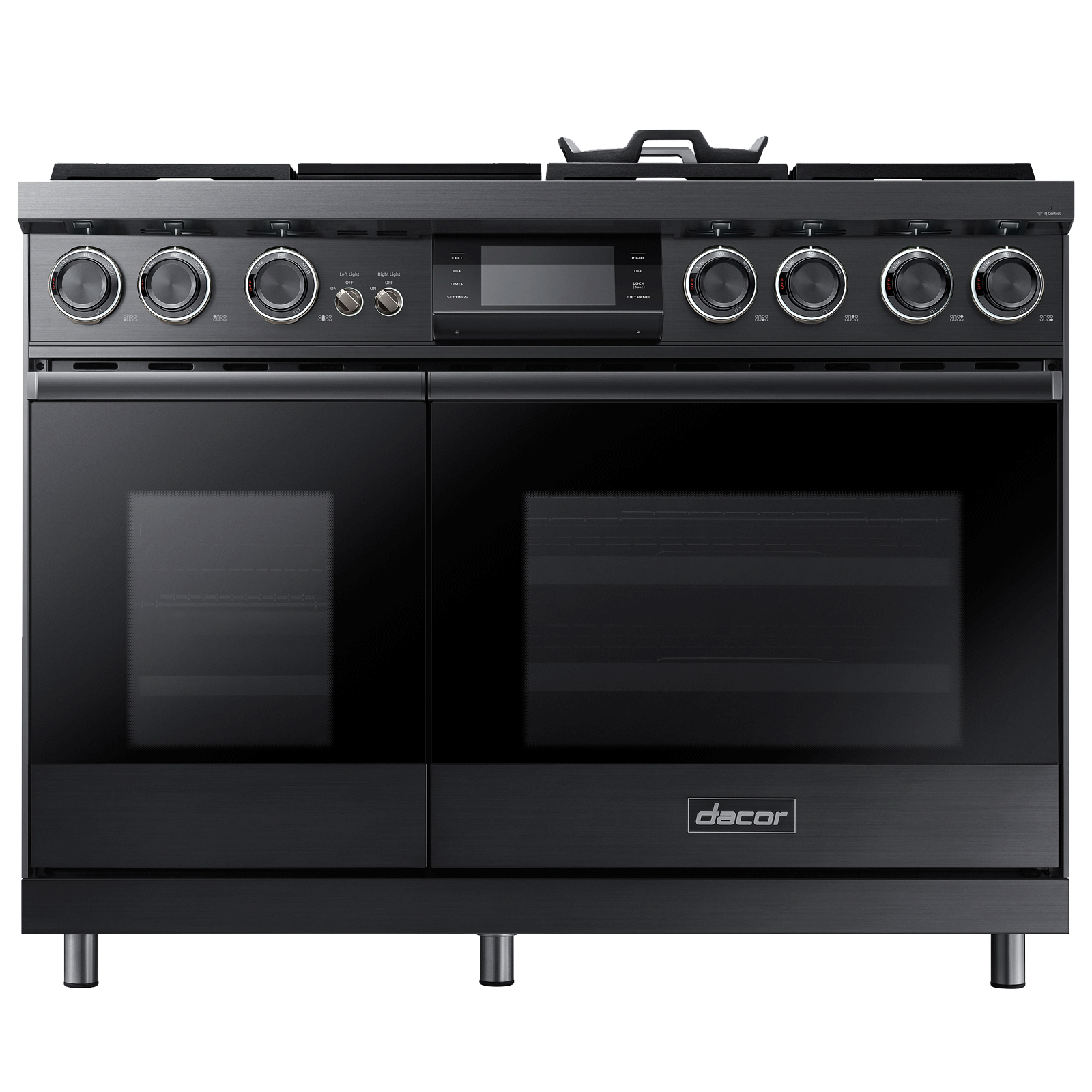 "Dacor Modernist 48"" Pro Dual-Fuel Steam Range, Graphite Stainless Steel, Natural Gas"