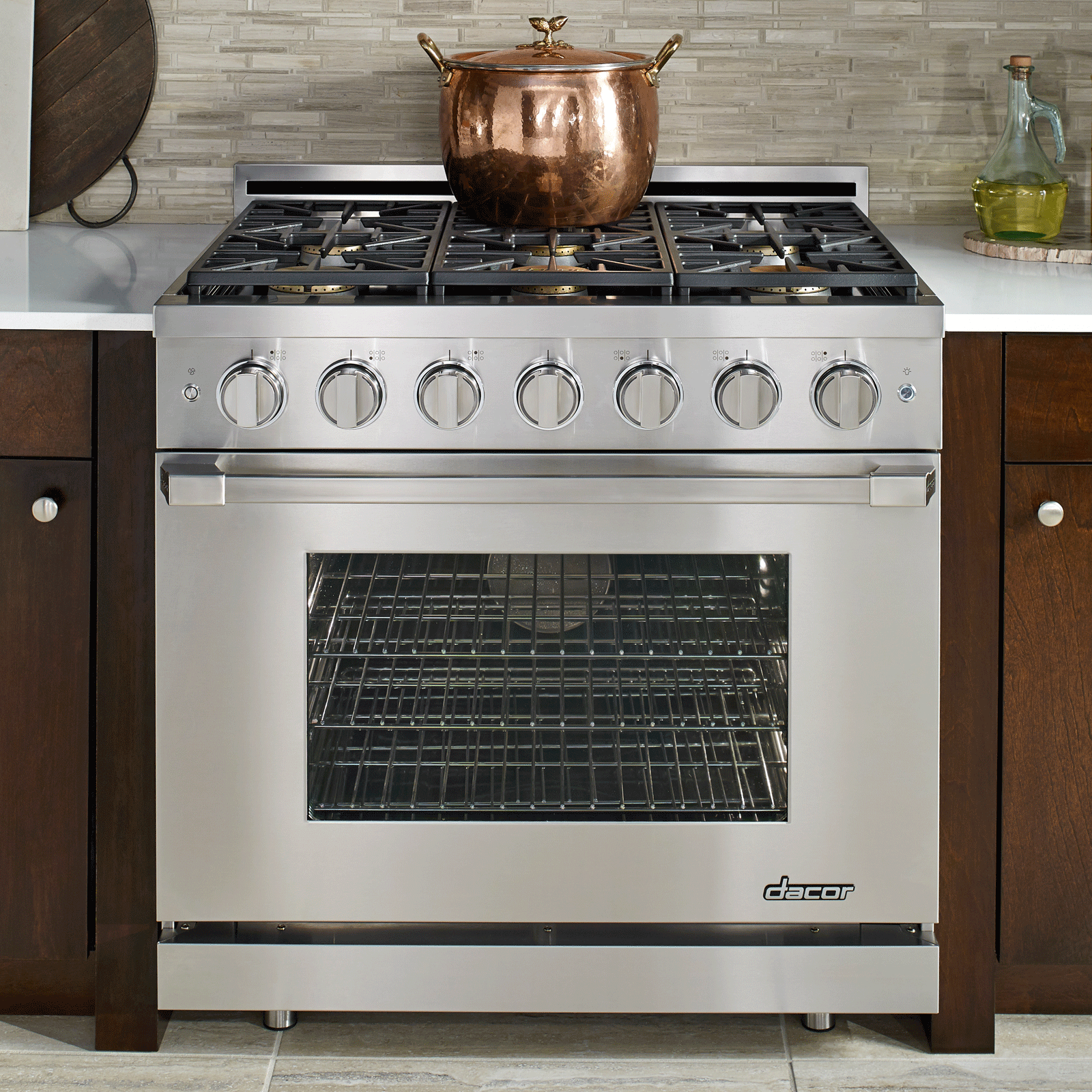 "Dacor Renaissance 36"" Self-Cleaning Gas Range with Pro Style Handle- Natural Gas"