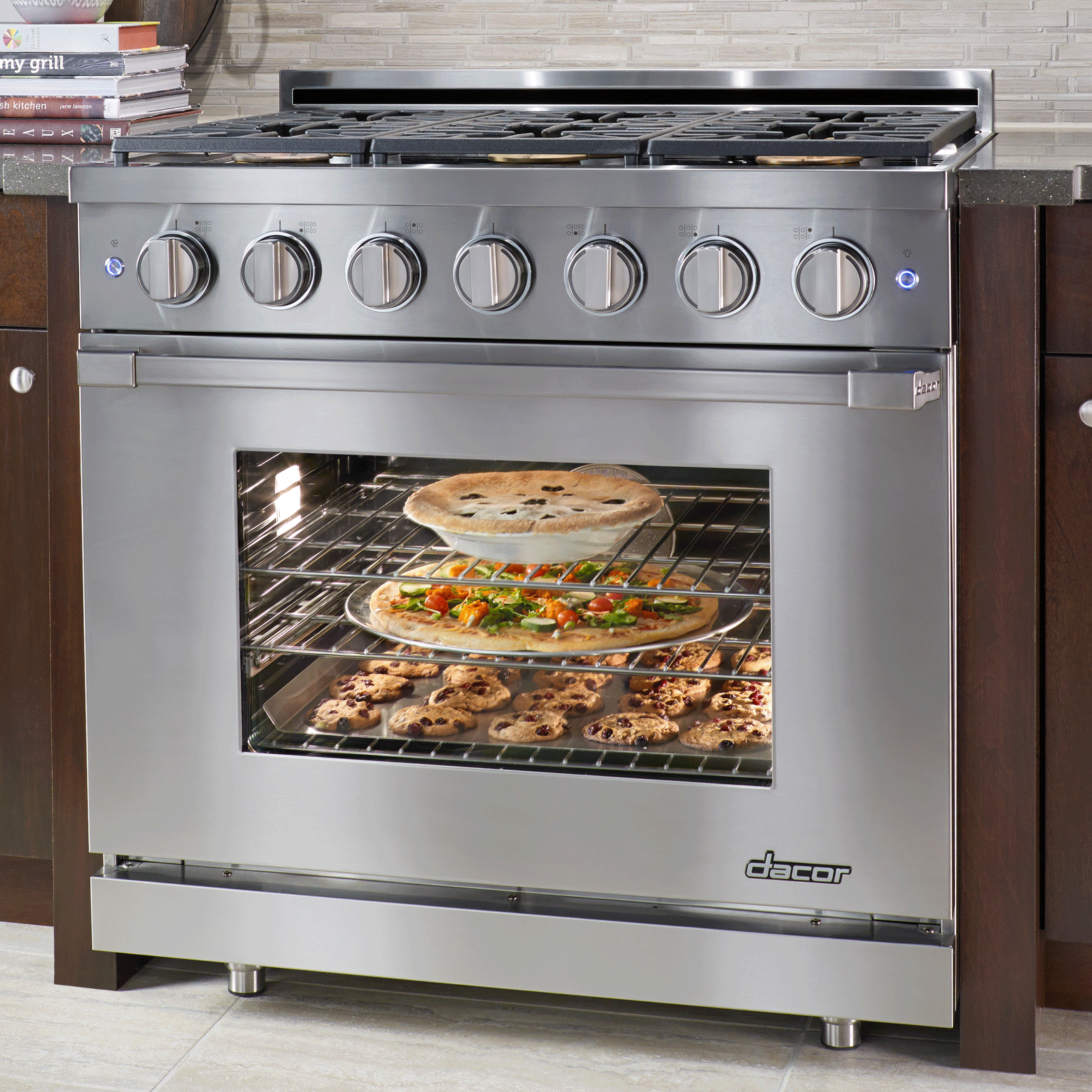 with toaster control self convection ge gas steel stainless clean front range and web slide oven cleaning in