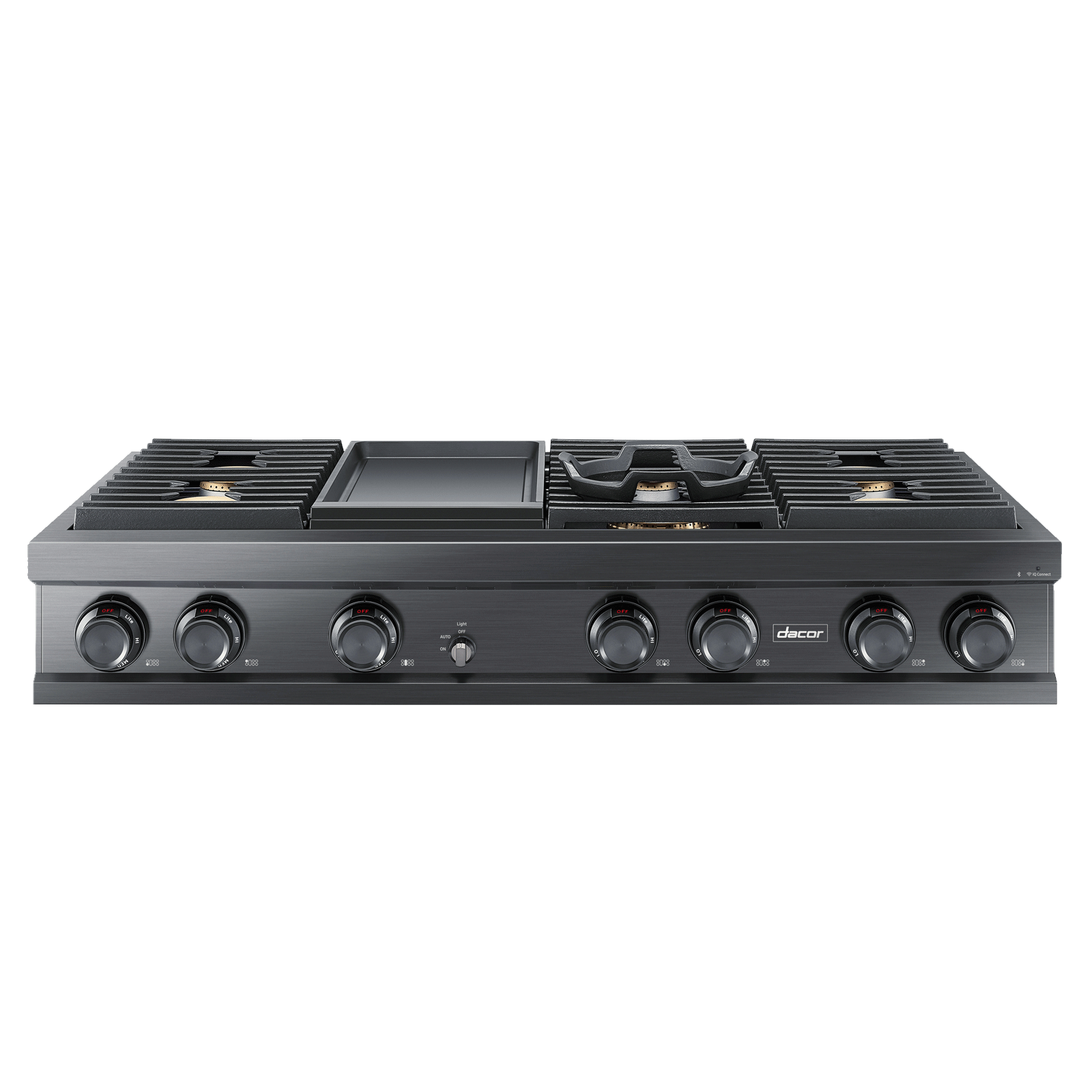"Model: DTT48M976PM | Dacor Modernist 48"" Gas Rangetop, Graphite Stainless Steel, Liquid Propane"