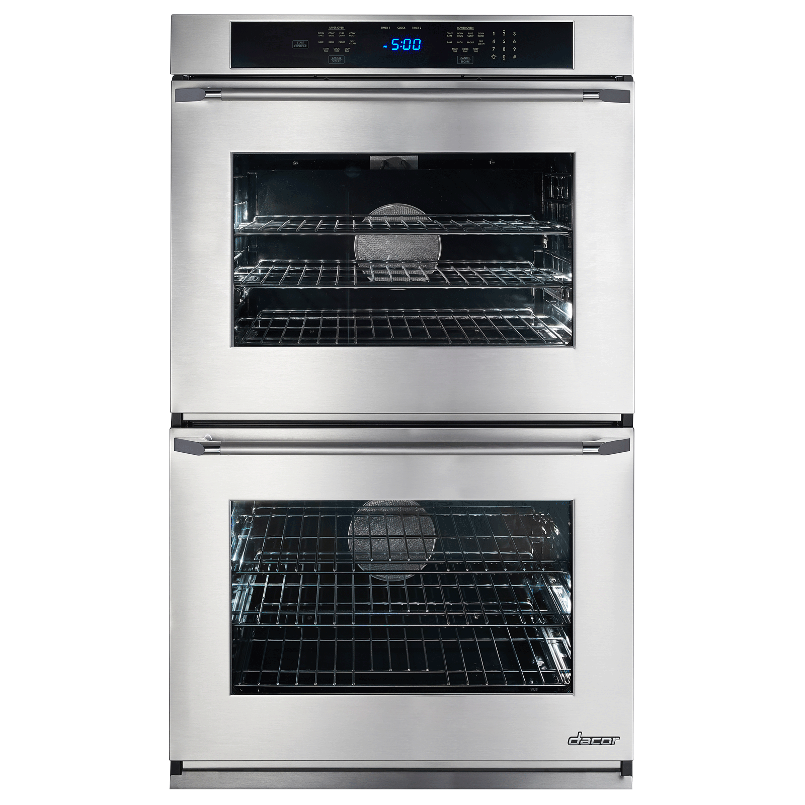 """Dacor RNO227PB Renaisssance 27"""" Double Wall Oven in Black Glass"""
