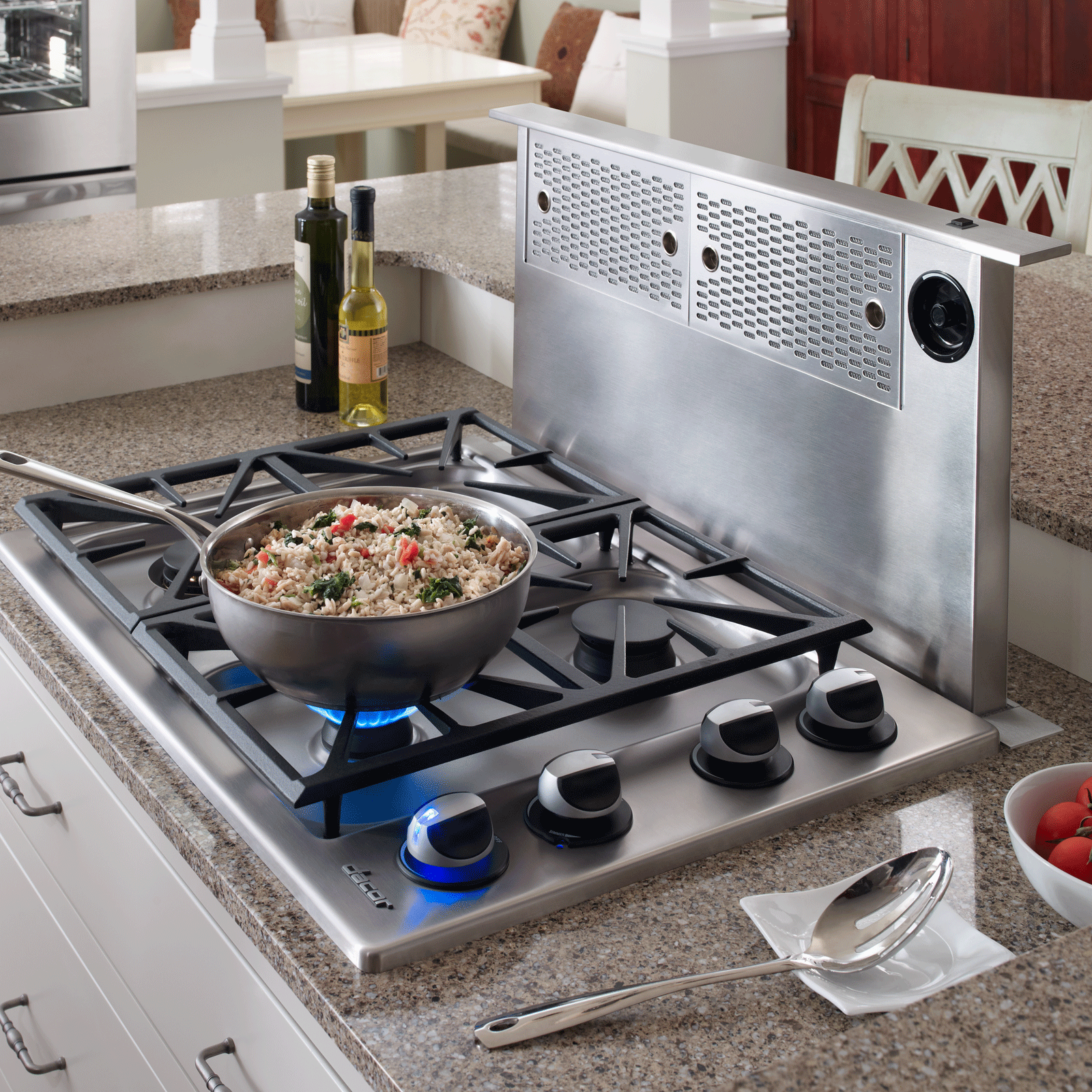 "Dacor Heritage 46"" Round Cap Downdraft, in Stainless Steel"