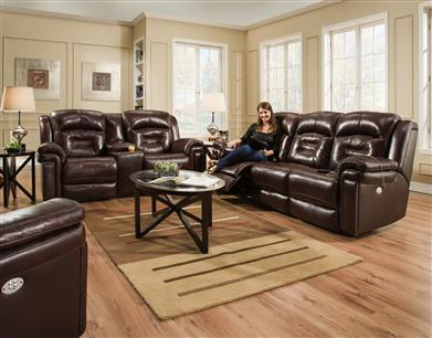 Southern Motion 6843P - Wall Hugger Recliner with Power Headrest