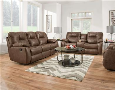 33   Double Reclining Sofa With Drop Down Table