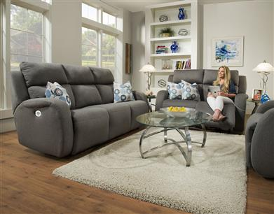 78P - Double Reclining Sofa with Console and Power Headrest