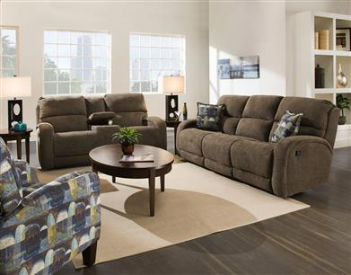 22 - Double Reclining Loveseat with 2 Pillows