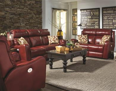 Southern Motion 61P PIL - Double Reclining Sofa with Power Headrest & Pillows
