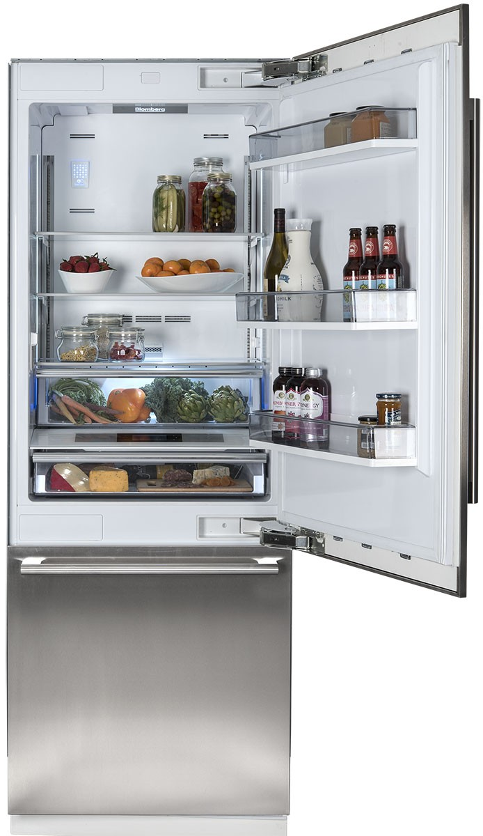 Model: BRFB1900FBI | Blomberg 30 Inch Fully Integrated Built-In Bottom-Freezer Refrigerator
