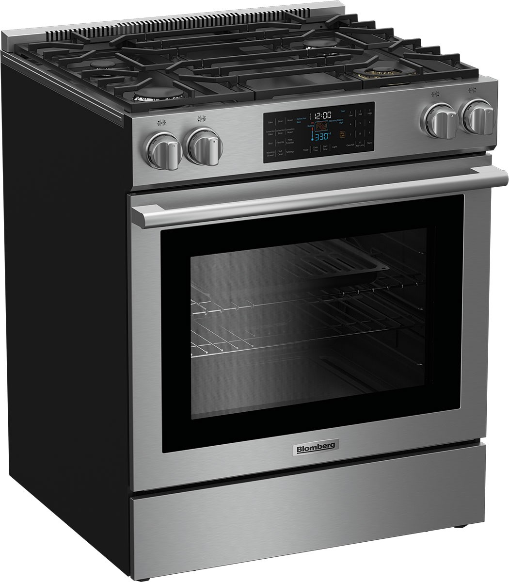 Model: BGR30420SS | Blomberg 30 Inch Slide-In Gas Range
