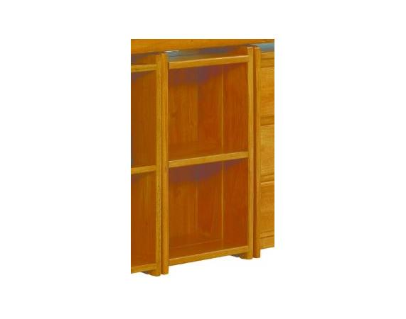 Woodcrest Heartland Small Bookshelf in Honey Pine