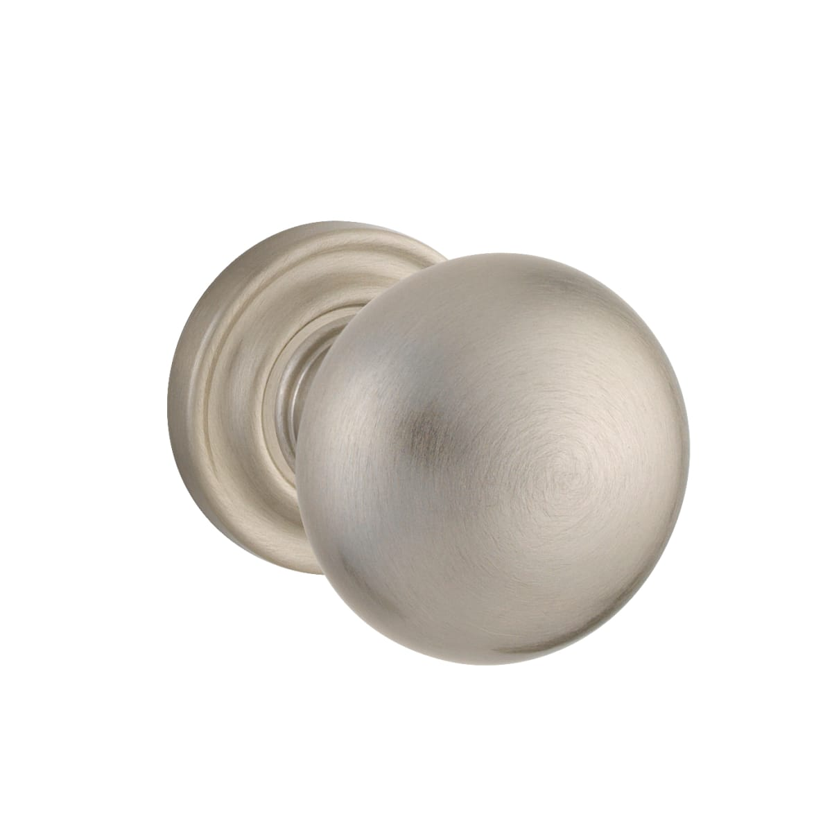 Baldwin 5000 Left Handed Non-Turning One-Sided Dummy Door Knob with Small Rosette from the Estate Collection