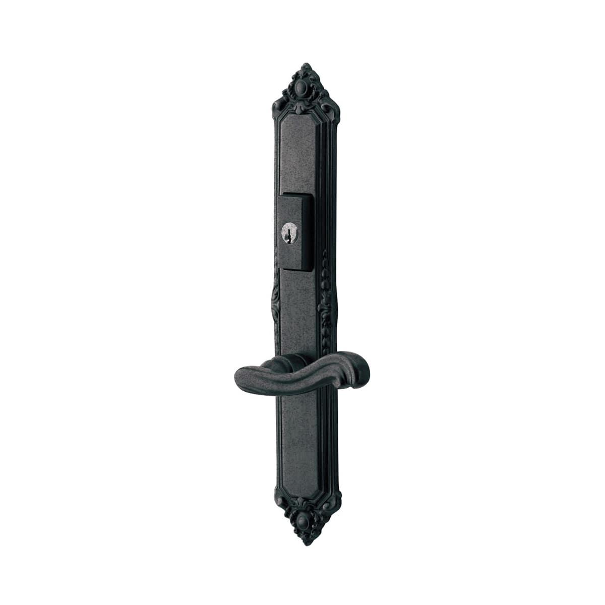 Baldwin Kensington Door Configuration 5 Inactive Multi Point Trim Lever Set with American Cylinder Above or Below Handle