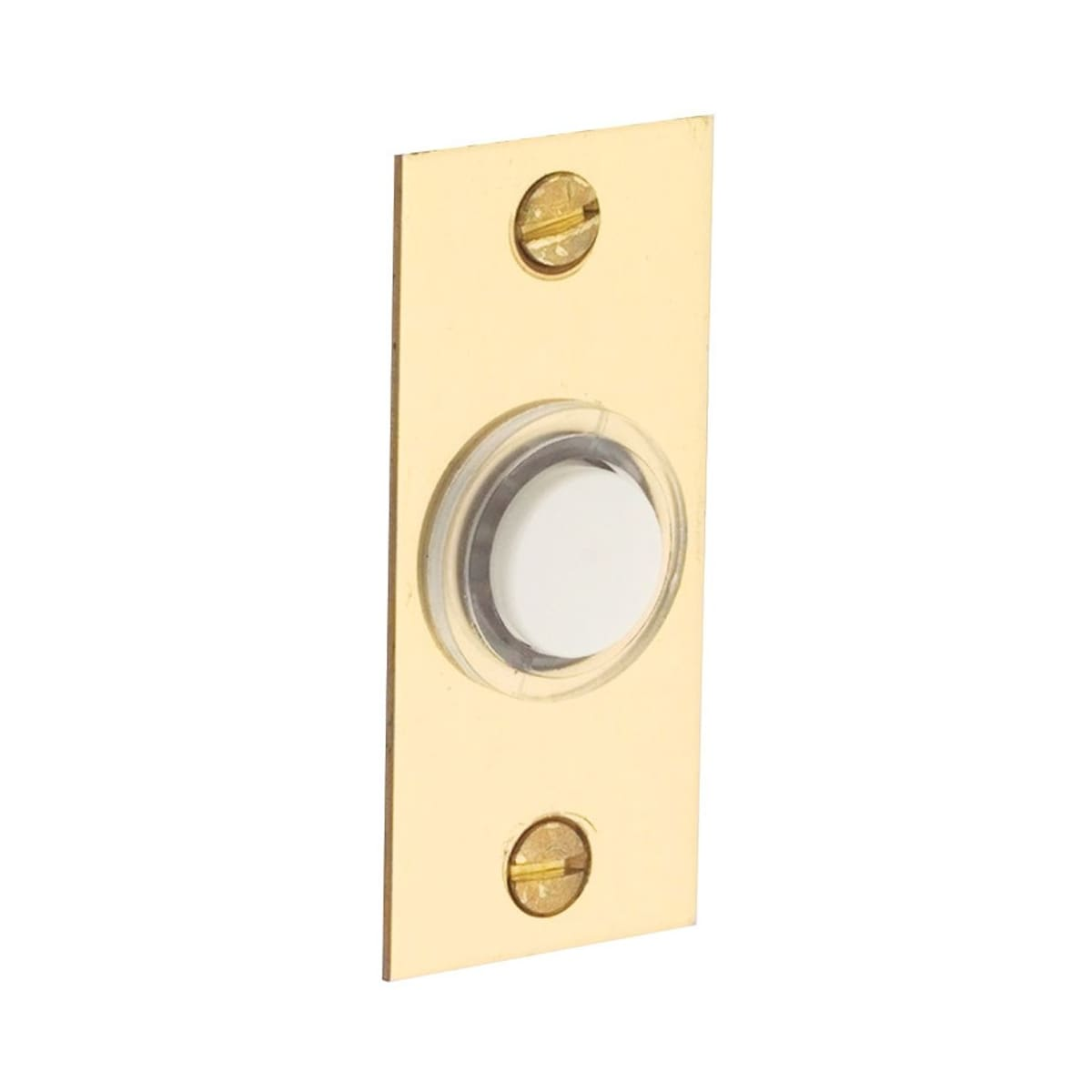 Baldwin 2-1/4 Inches x 1 Inch Rectangular Bell Button