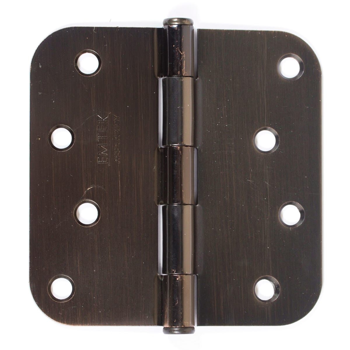 "Emtek 4"" x 4"" Plain Bearing 5/8"" Radius Corners Mortise Hinge - Pair"