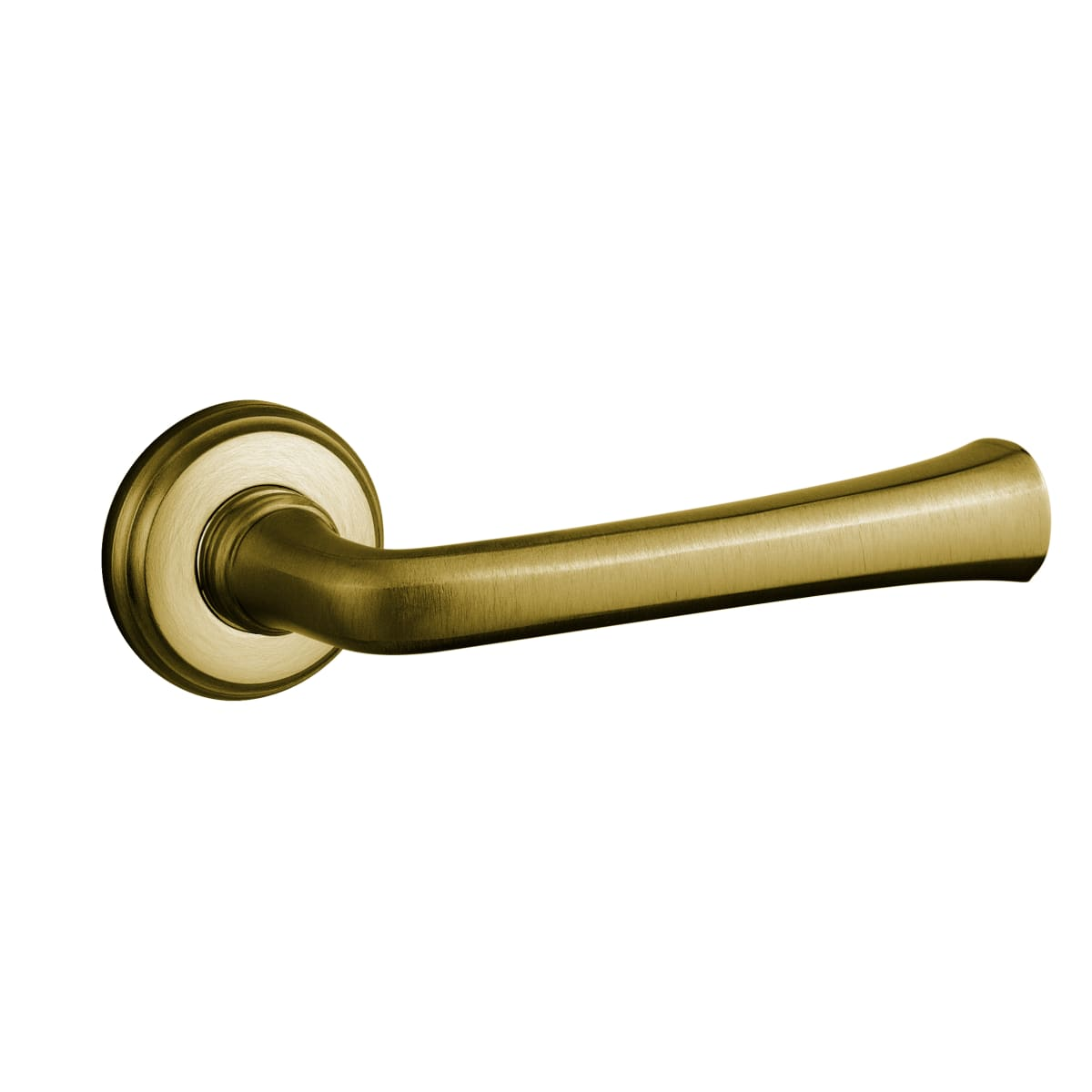 Baldwin 5112 Style Passage Door Lever Set with choice of Small Rosette from the Estate Collection