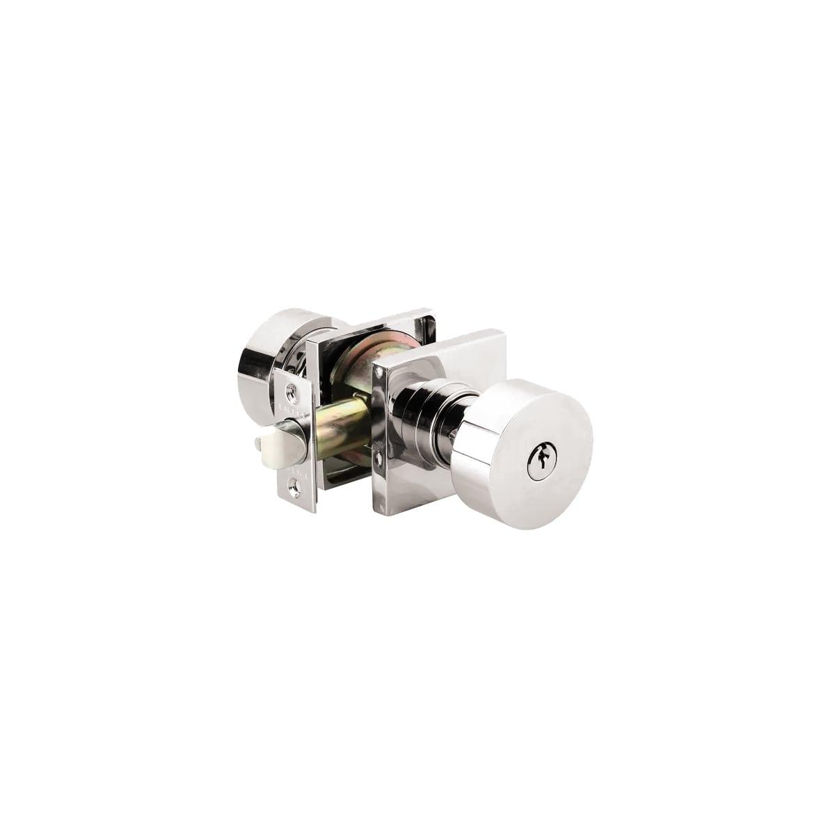 Emtek Round Single Cylinder Keyed Entry Door Knob Set
