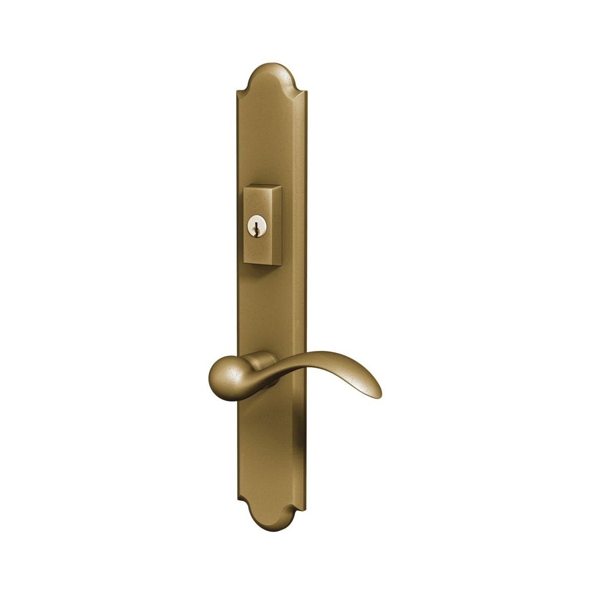 Baldwin Boulder Door Configuration 2 Patio Multi Point Trim Lever Set with American Cylinder Above Handle