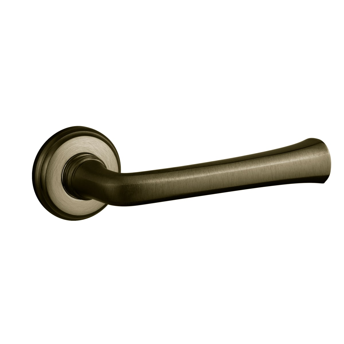 Baldwin 5112 Style Privacy Door Lever Set with choice of Small Rosette from the Estate Collection