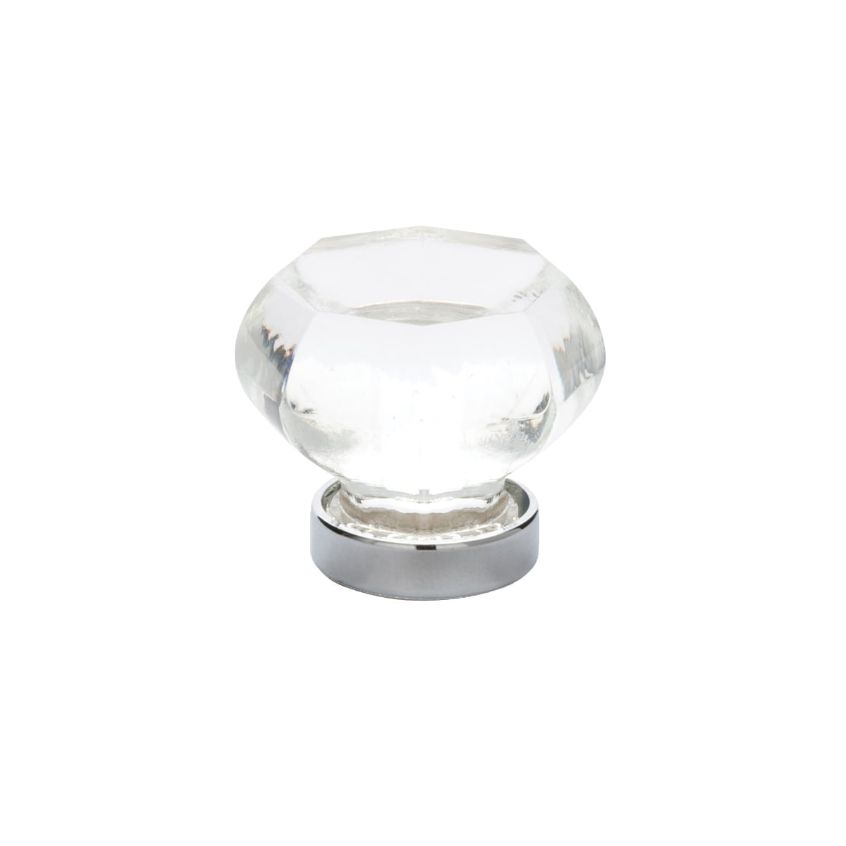 Emtek Crystal And Porcelain 1 Inch Geometric Cabinet Knob