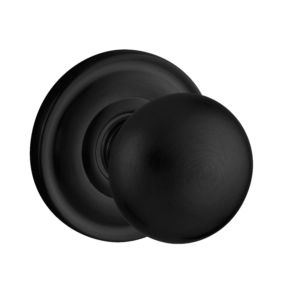 Baldwin 5000 Left Handed Non-Turning One-Sided Dummy Door Knob with Medium Rosette from the Estate Collection
