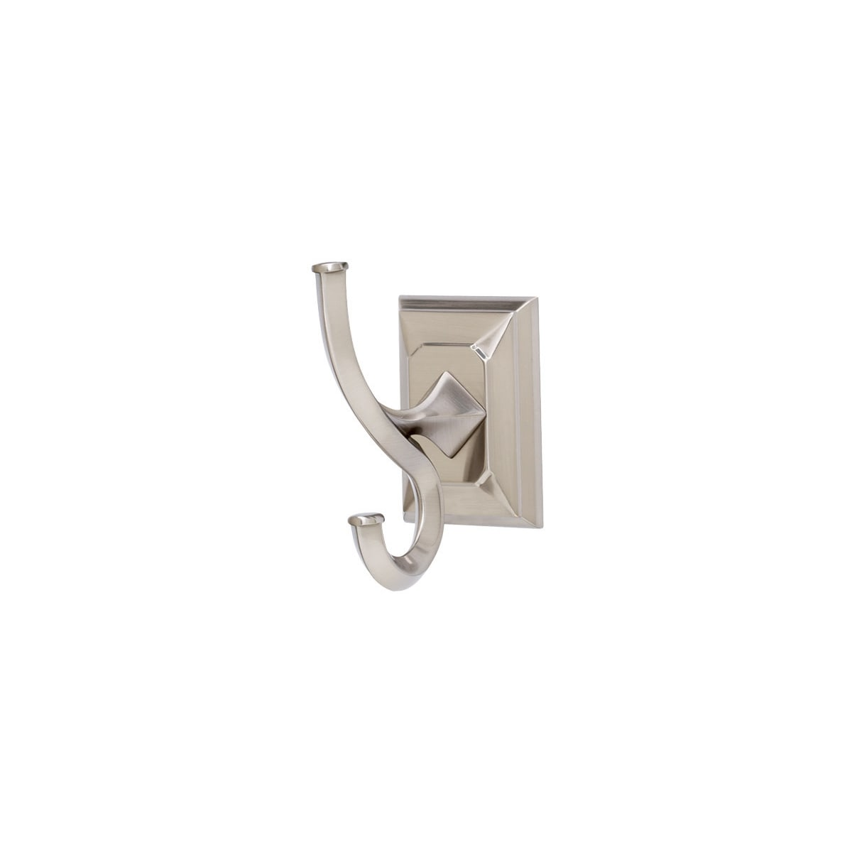 Alno Geometric 4 Inch Tall Double Prong Robe Hook