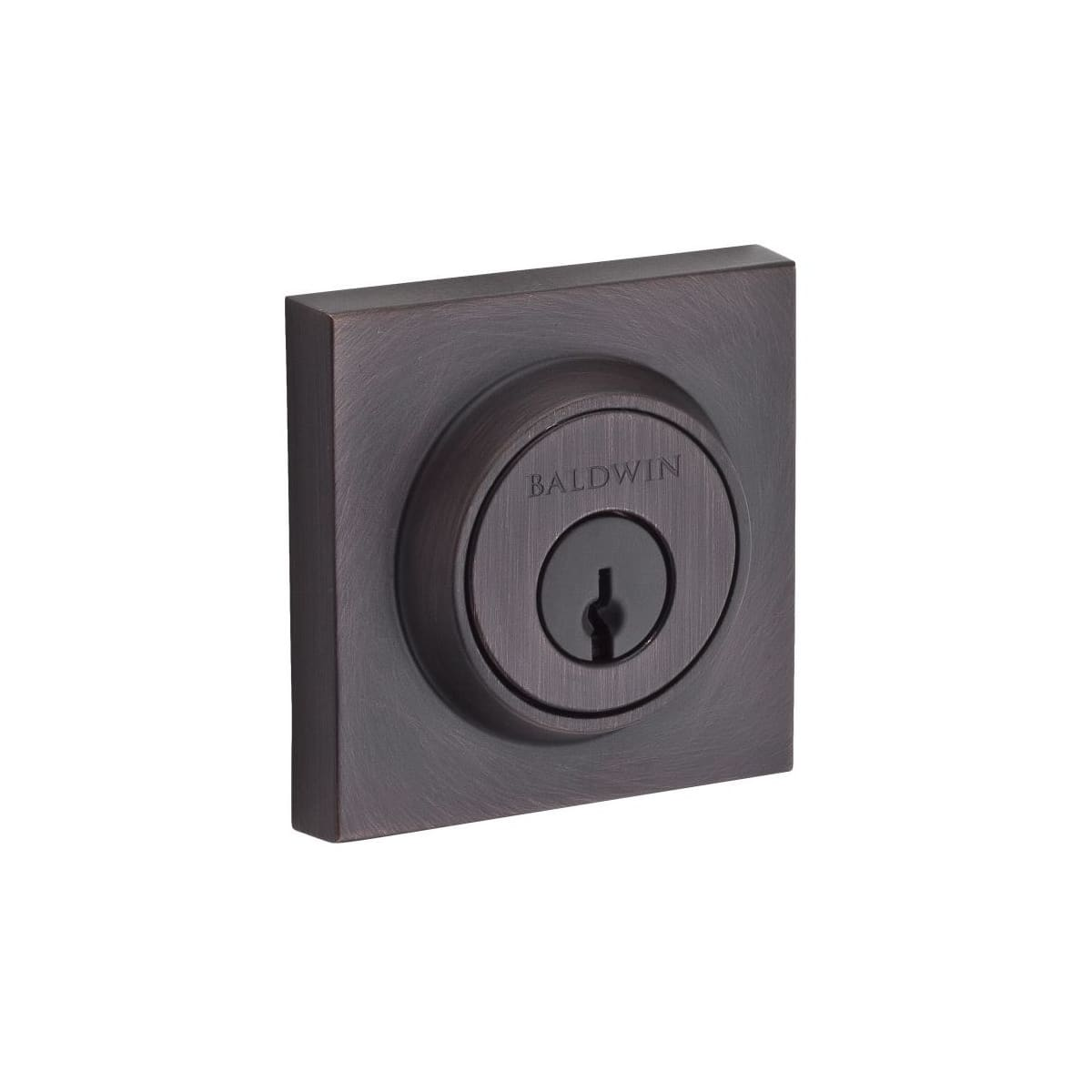 Baldwin Contemporary Square Standard C Keyway Single Cylinder Keyed Entry Deadbolt