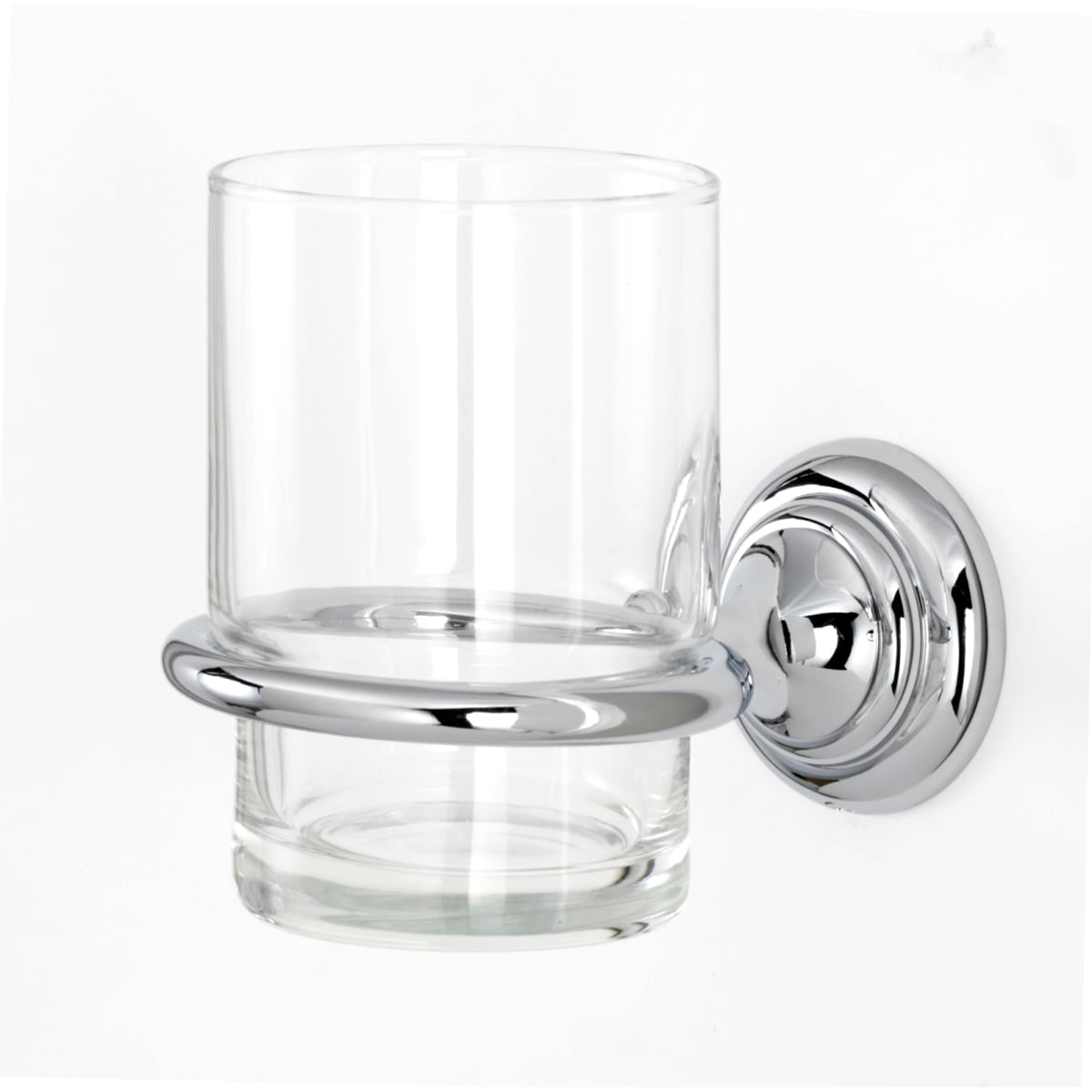 Alno Charlie's Wall Mounted Glass Tumbler with Brass Mounting Bracket