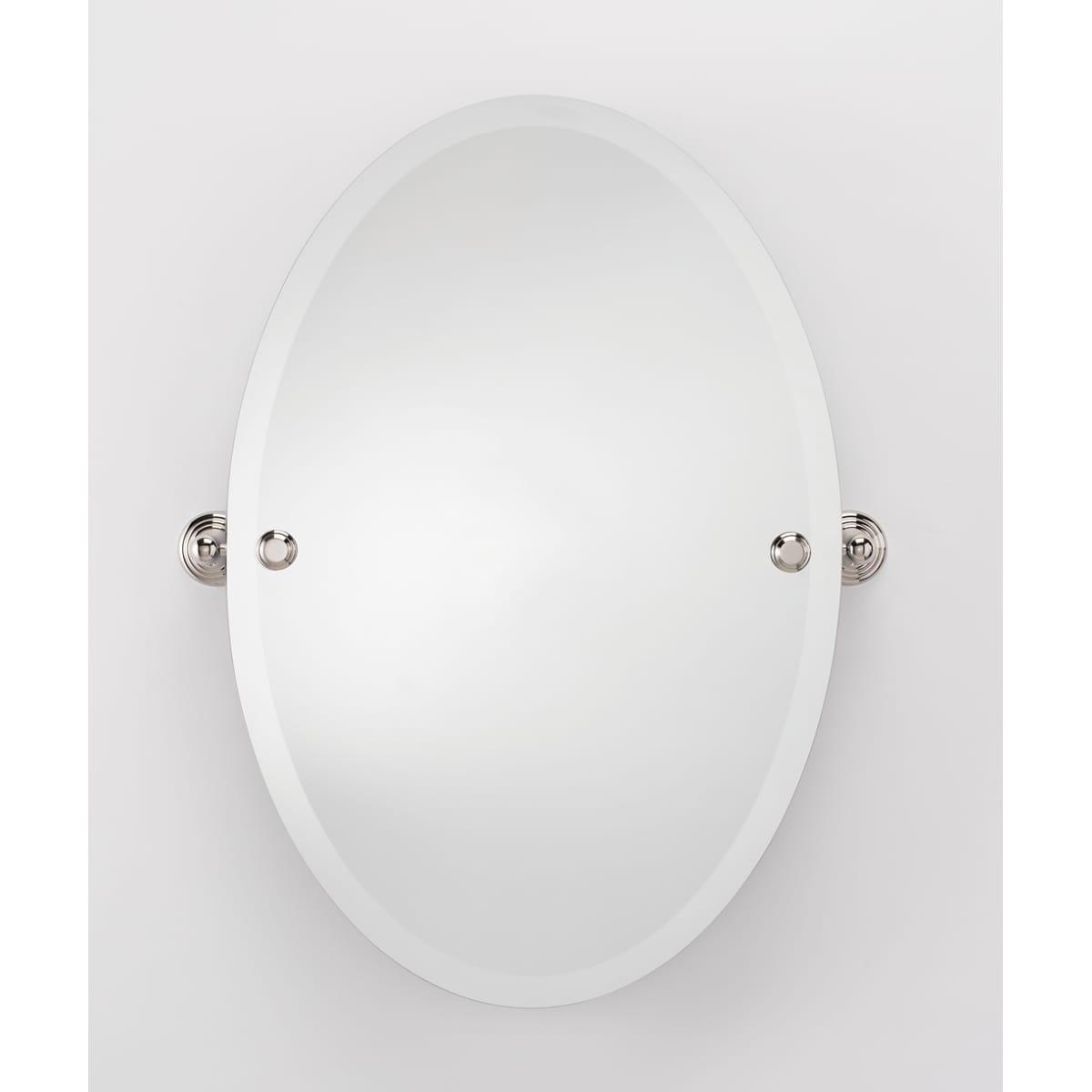 Alno 21 x 31 Inch Oval Frameless Mirror