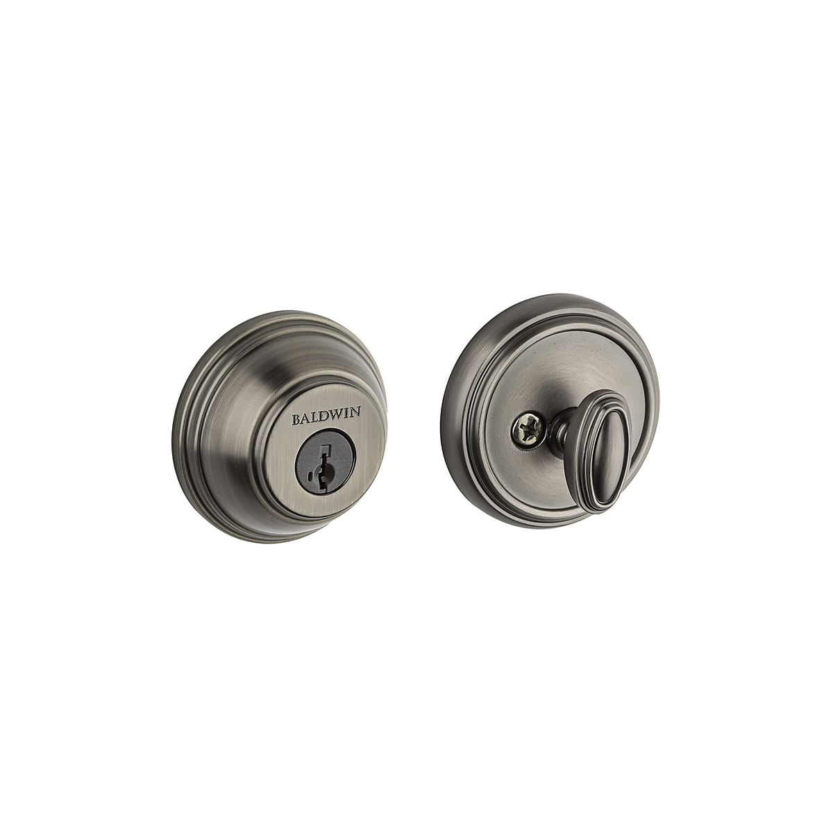 Baldwin Traditional Round Single Cylinder Deadbolt from the Prestige Collection