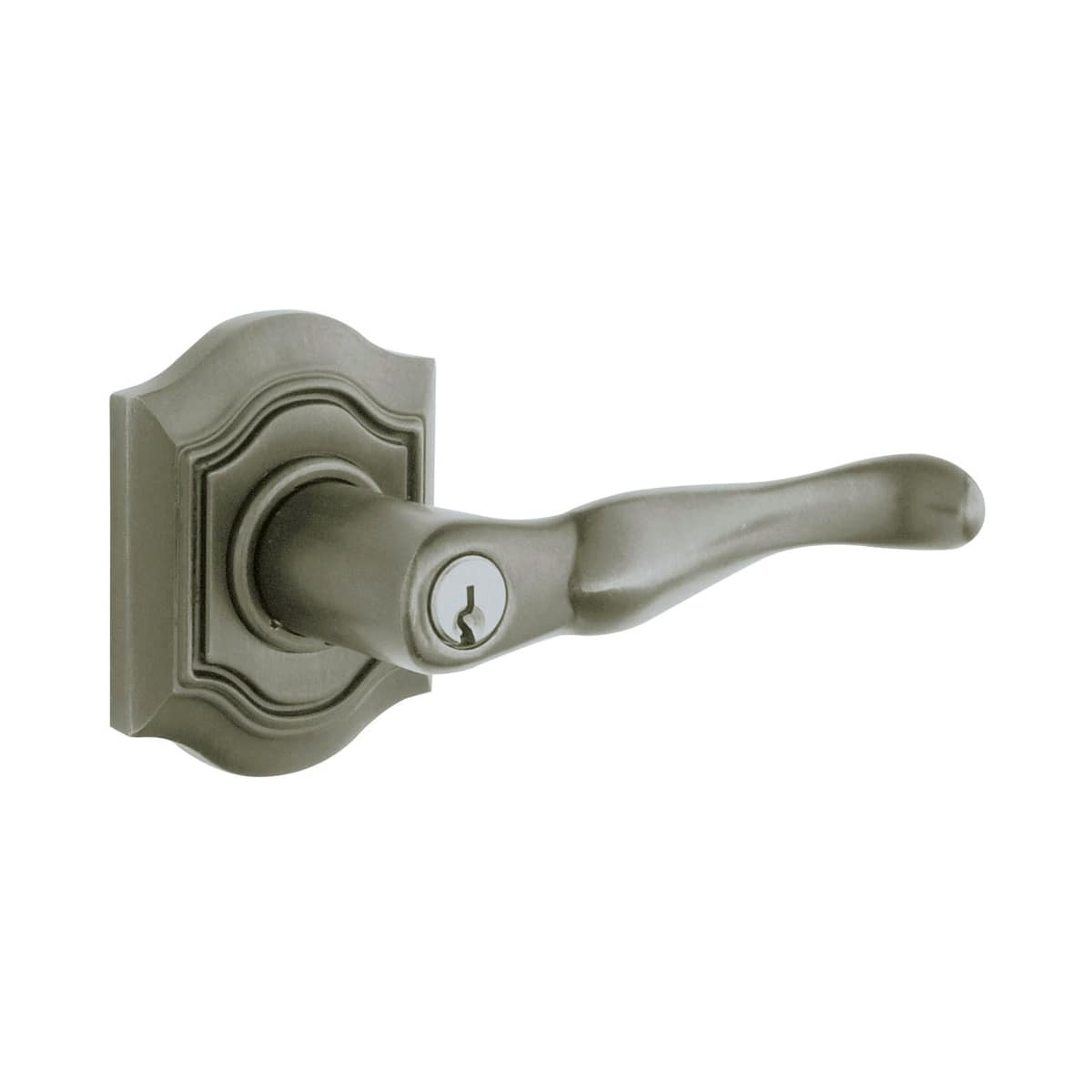 Baldwin Bethpage Right Hand Keyed Entry Lever Set with Bethpage Rosette and Emergency Exit Function