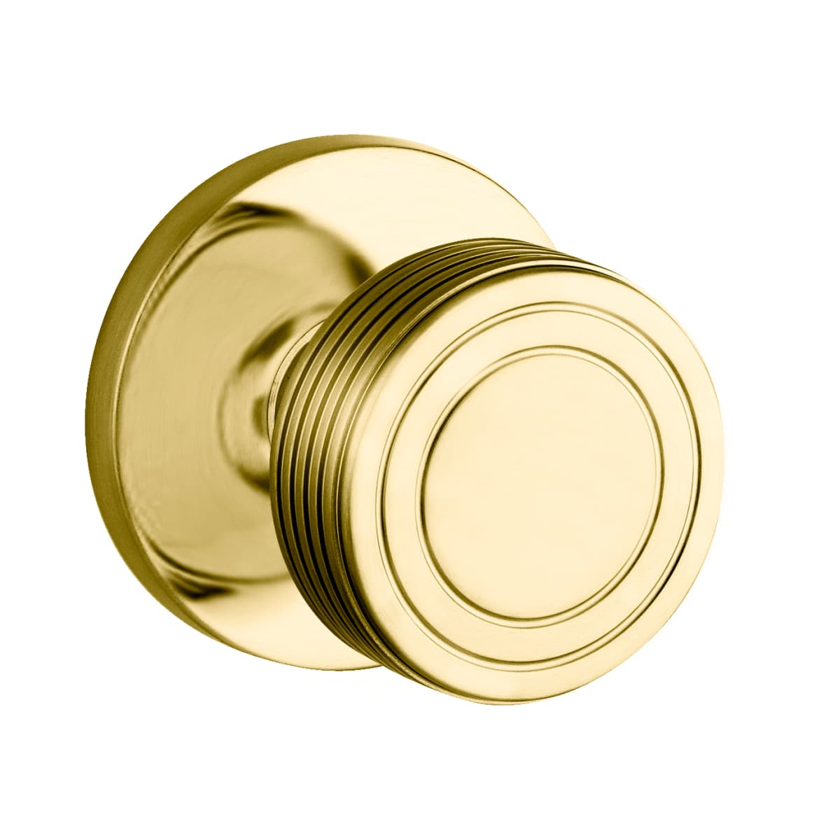 Baldwin 5045 Style Privacy Door Knob Set with choice of Medium Rosette from the Estate Collection