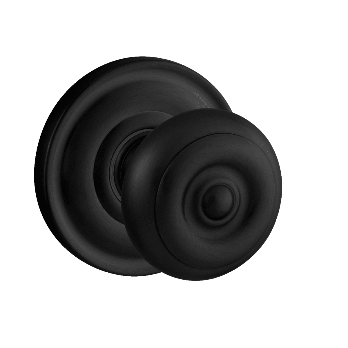 Baldwin 5005 Style Passage Door Knob Set with choice of Medium Rosette from the Estate Collection