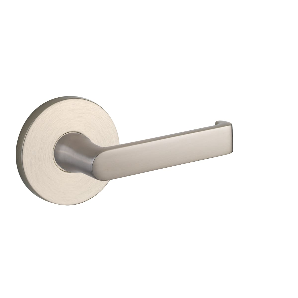 Baldwin 5105 Left Handed Non-Turning One-Sided Dummy Door Lever with Medium Rosette from the Estate Collection