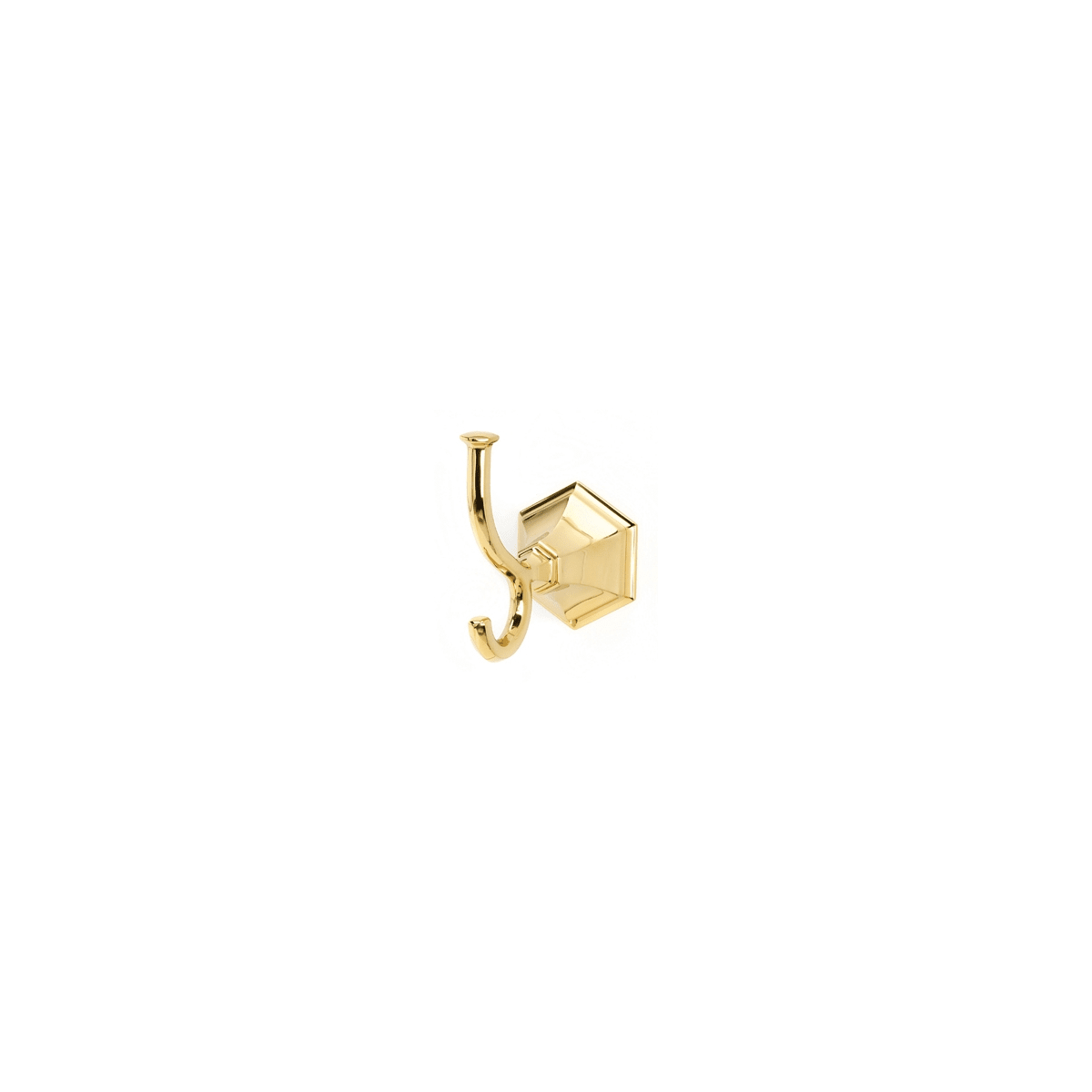 Alno Nicole 4-1/16 Inch Tall Double Prong Robe Hook