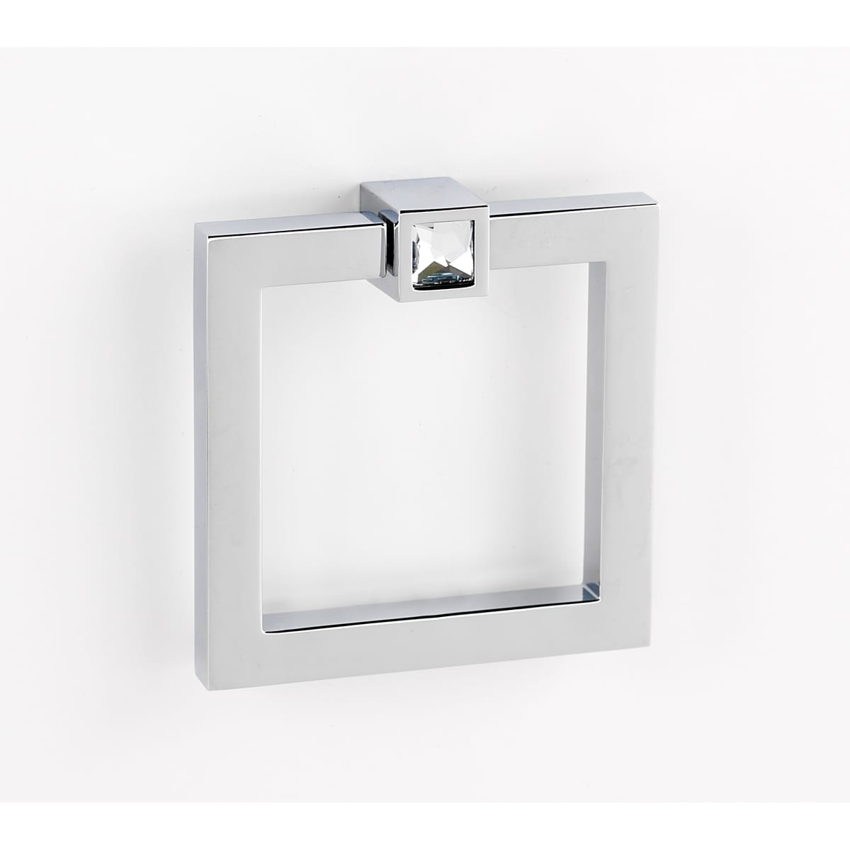 Alno 3 Inch Square Ring Cabinet Pull with Square Crystal Mount