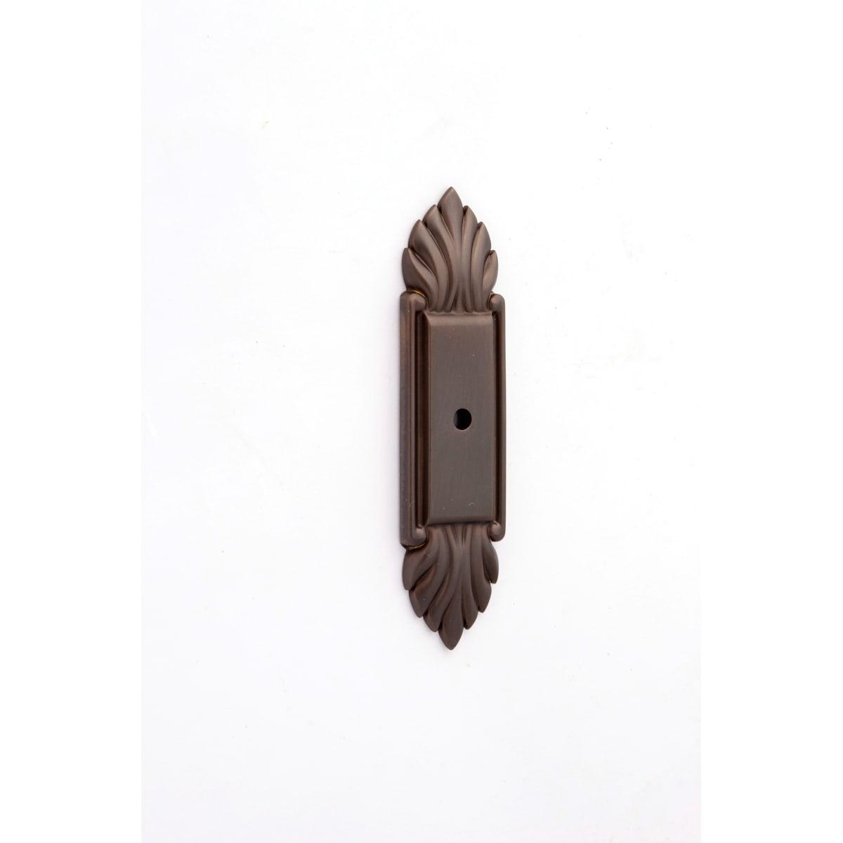 Alno Fiore 4 Inch Long Cabinet Knob Backplate