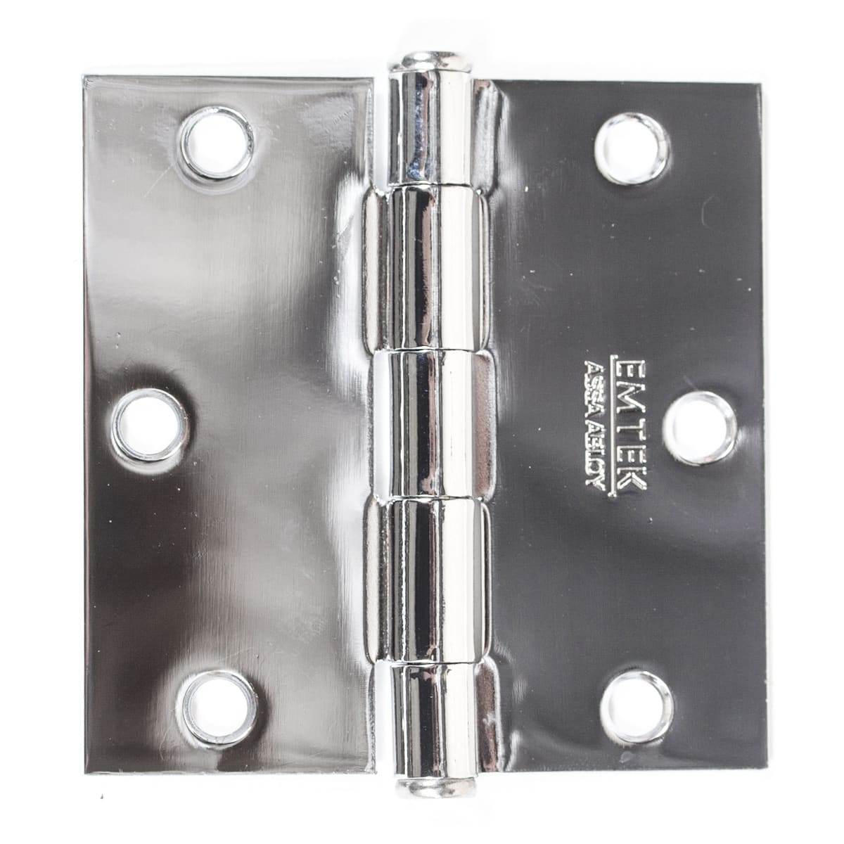"Emtek 3.5"" x 3.5"" Square Corner Plain Bearing Mortise Hinge - Pair"