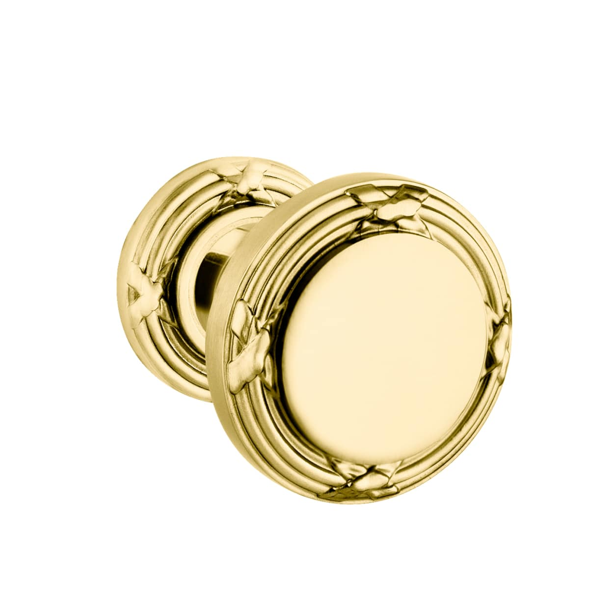 Baldwin 5013 Style Passage Door Knob Set with choice of Small Rosette from the Estate Collection