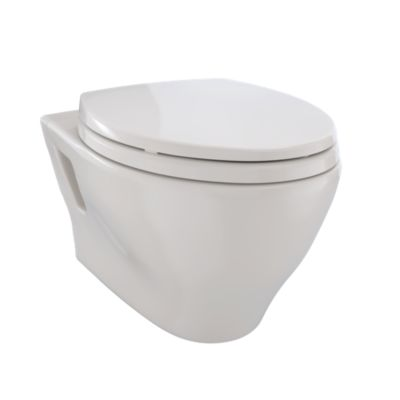 TotoUsa Aquia® Wall-Hung Dual-Flush Toilet, 1.6 GPF & 0.9 GPF, Elongated Bowl - Less CeFiONtect