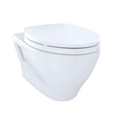 TotoUsa Aquia® Wall-Hung Dual-Flush Toilet, 1.6 GPF & 0.9 GPF, Elongated Bowl