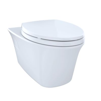 TotoUsa Maris® Wall-Hung Dual-Flush Toilet, 1.6 GPF & 0.9 GPF, Elongated Bowl