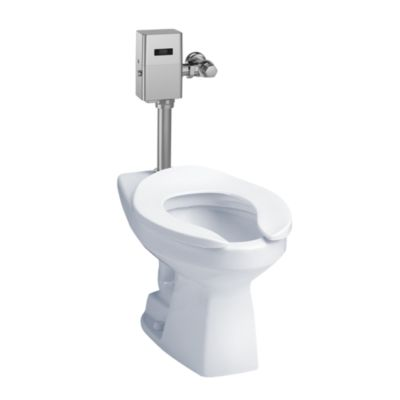 TotoUsa Commercial Flushometer High Efficiency Toilet, 1.28 GPF, Elongated Bowl - CeFiONtect