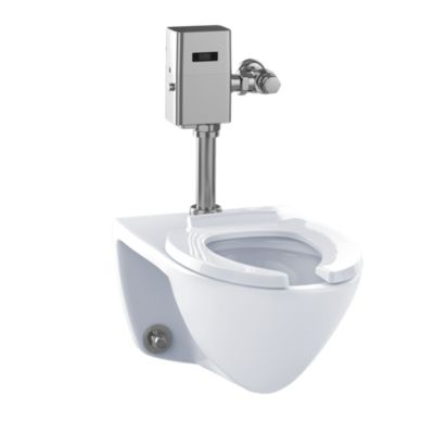 TotoUsa Commercial Flushometer High Efficiency Toilet, 1.28 GPF, Elongated Bowl