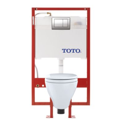 TotoUsa Aquia® Wall-Hung Toilet & DUOFIT™ In-Wall Tank System, 1.6 GPF & 0.9 GPF, Elongated Bowl - PEX Supply