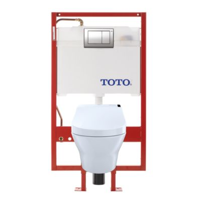 TotoUsa MH Connect+ C200 Wall-Hung Toilet - 1.28 GPF & 0.9 GPF - Copper Supply